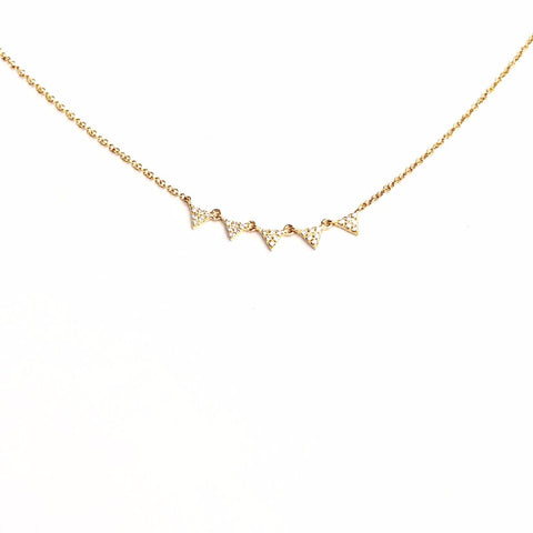 SMALL TRIANGLE CLUSTER NECKLACE