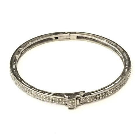 CLASSIC PAVE DIAMOND 2-ROW BANGLE - A.FIER LIFESTYLE