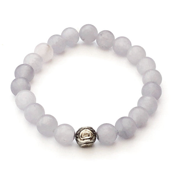 GREY AGATE WITH ROSE CUT DIAMOND SPACER - A.FIER LIFESTYLE