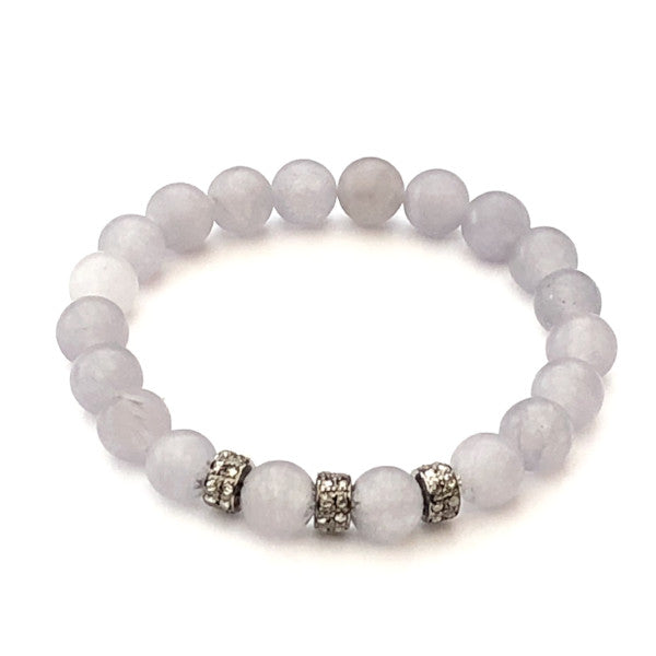GREY AGATE WITH THREE DIAMOND SPACERS - A.FIER LIFESTYLE