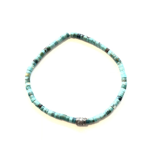 ALL TURQUOISE SLICES AND DIAMOND BEAD BRACELET - A.FIER LIFESTYLE