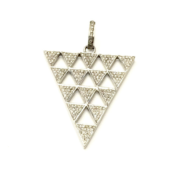 PAVE DIAMOND TRIANGLE OF TRIANGLES PENDANT - A.FIER LIFESTYLE