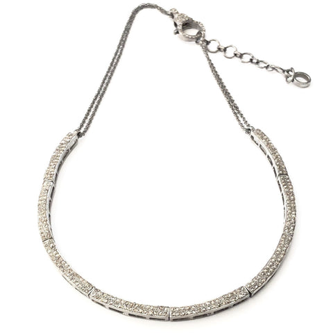 CRESCENT 'BLING' CHOKER NECKLACE WITH PAVE LOBSTER CLASP - A.FIER LIFESTYLE