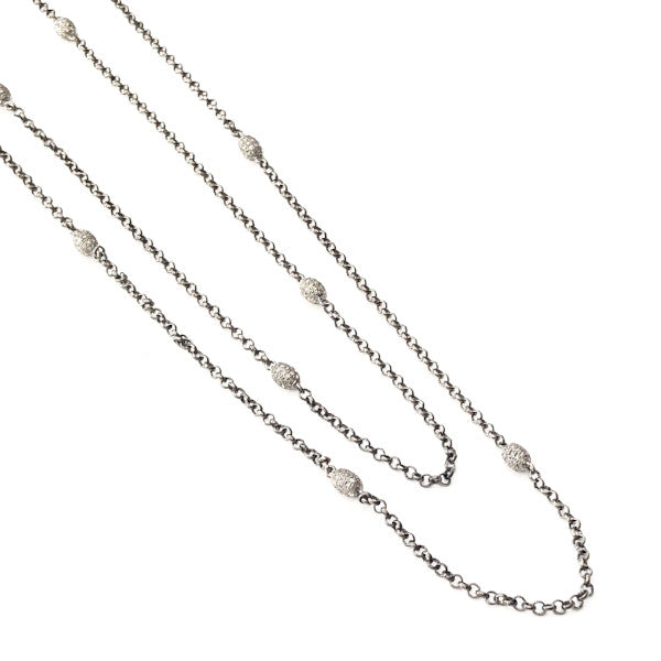 SILVER AND DIAMOND DRAPING NECKLACE - A.FIER LIFESTYLE