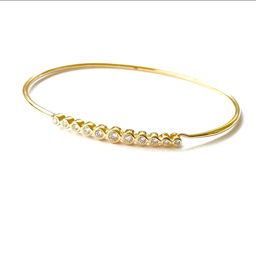 Circular Multi-Diamond Bangle