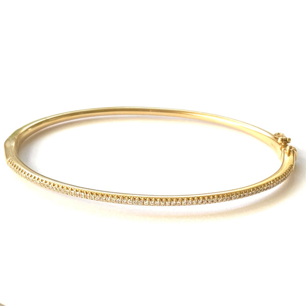All Diamond Oval Bangle
