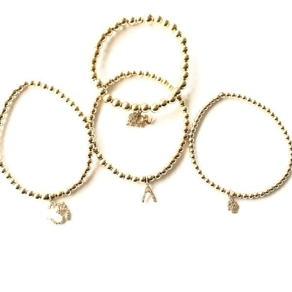 CHARM BRACELETS WITH 14K GOLD-FILLED BALLS - A.FIER LIFESTYLE
