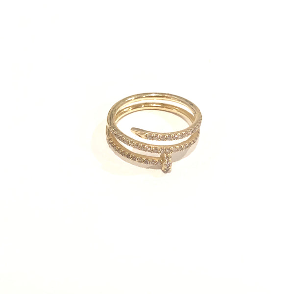PAVE DIAMOND NAIL RING - A.FIER LIFESTYLE