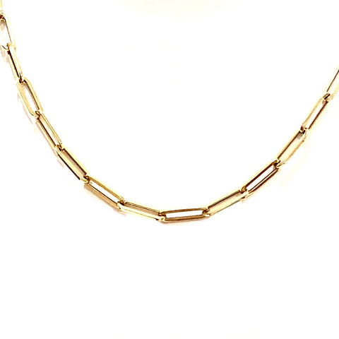 Large Paper Clip Gold Chain