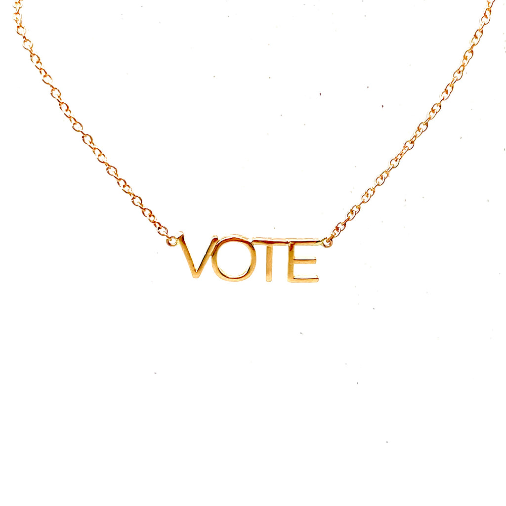 Gold VOTE necklace