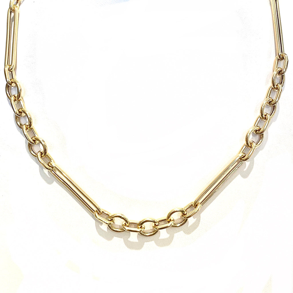 Chunky Gold Mixed Link Chain