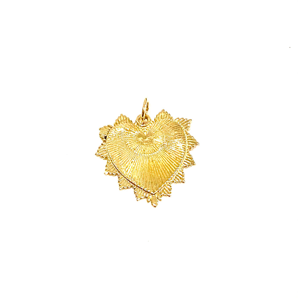 Throw Back Gold Heart Charm
