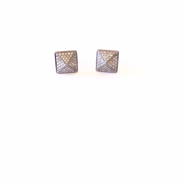 PAVE DIAMOND PYRAMID EARRINGS - A.FIER LIFESTYLE