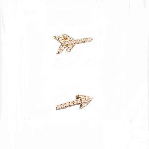 Split Arrow Diamond Earrings PAIR