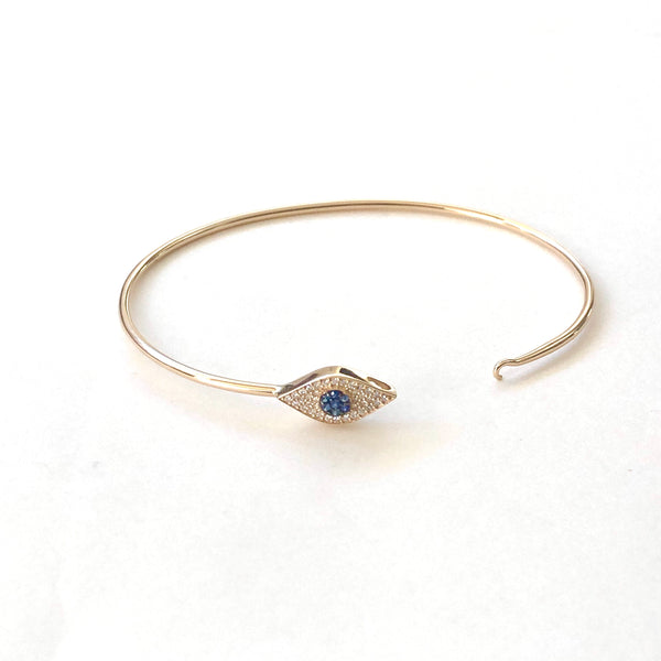 Diamond Evil Eye Bangle