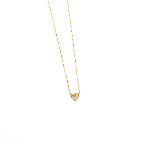 Diamond and Gold Heart Necklace