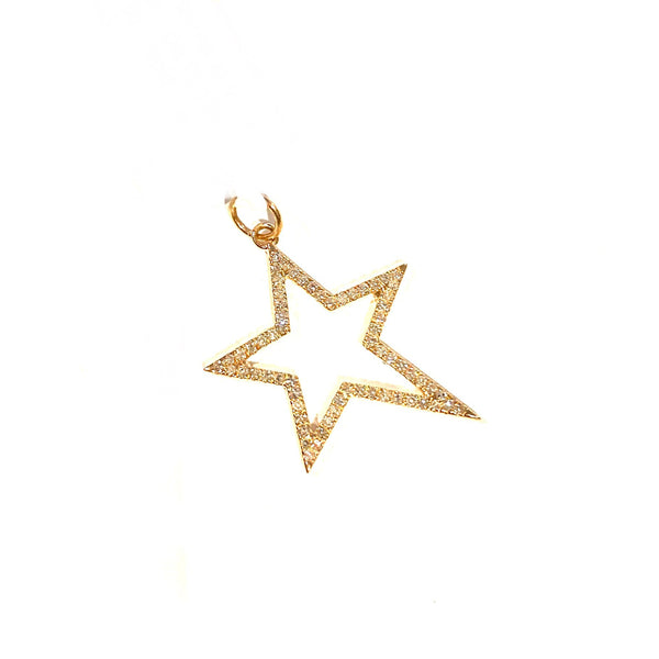 Large Diamond Star Charm