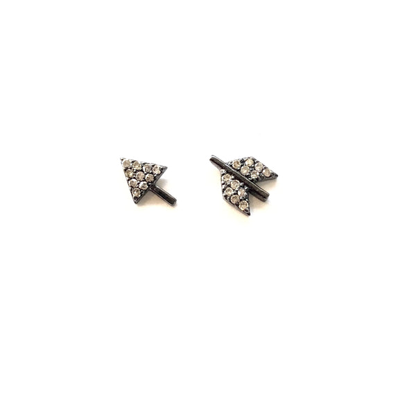 PAVE DIAMOND ARROW STUD EARRINGS - A.FIER LIFESTYLE