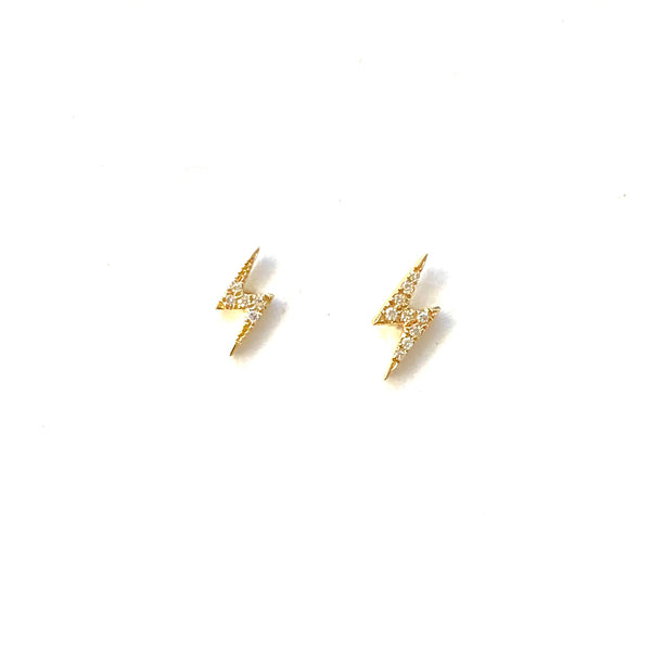Diamond Bolt Earrings - PAIR