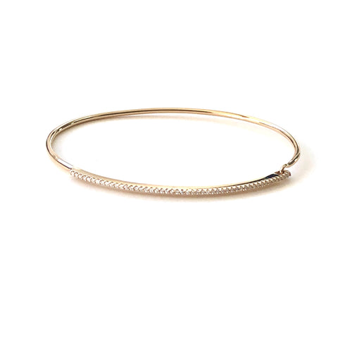 Thin Diamond Bar Bangle