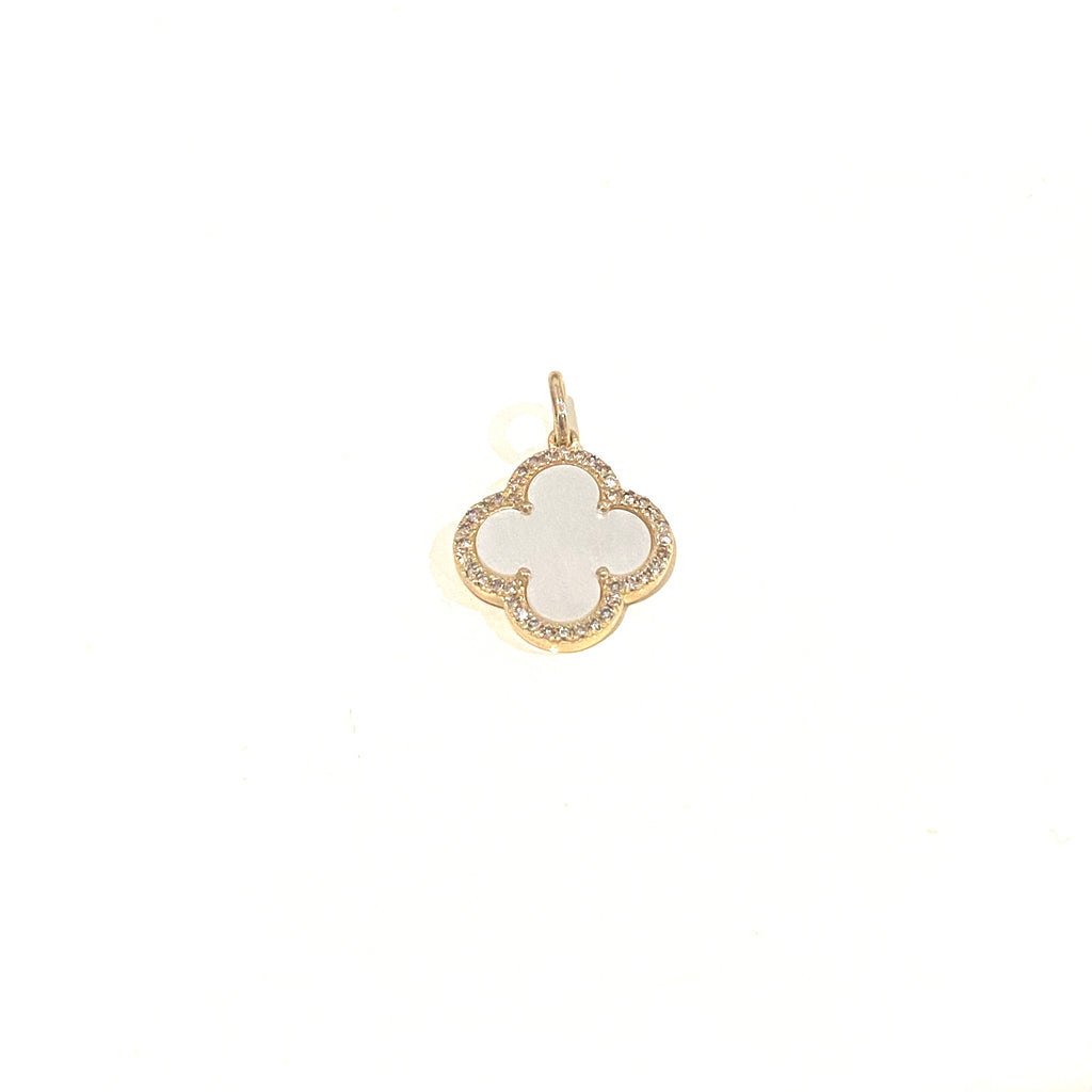 Mother of Pearl Clover Charm