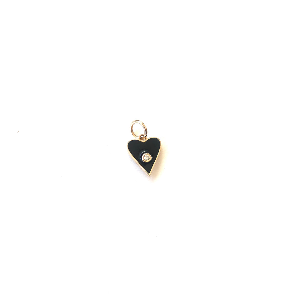 Two Sided Mini Heart Charm