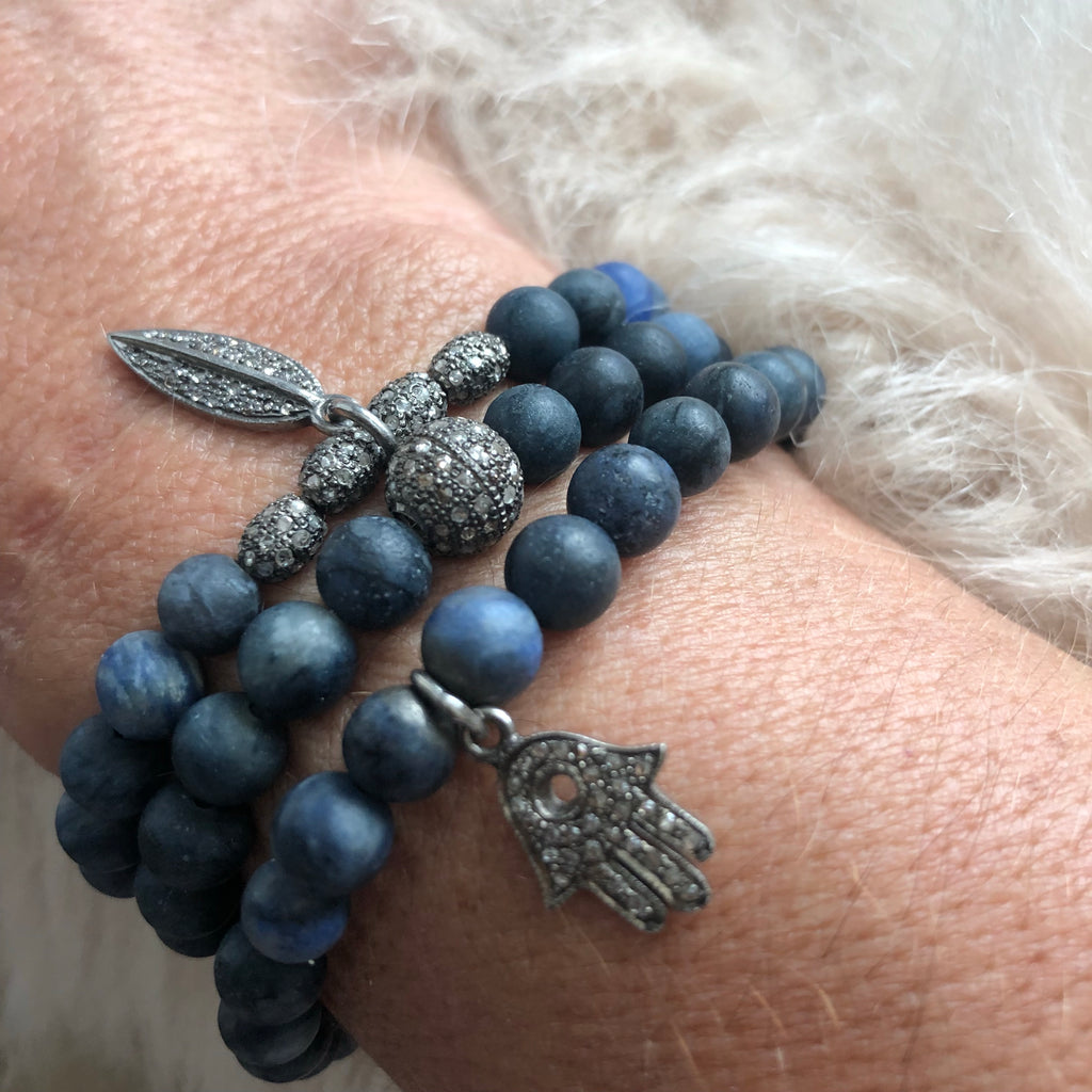 Navy Dumortierite Quartz and Diamond Bracelet Collection - A.FIER LIFESTYLE