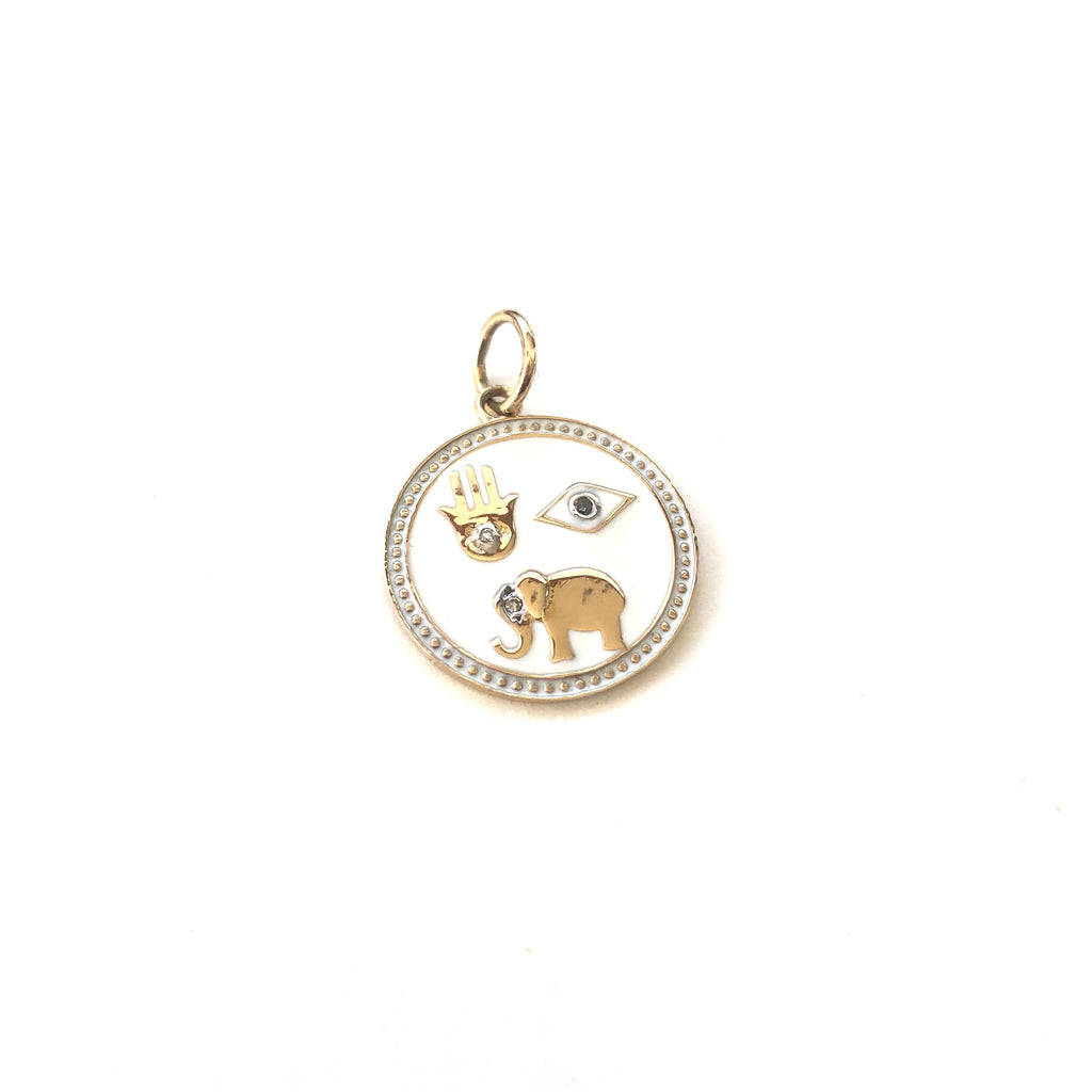 Good Luck Enamel Disc Charm