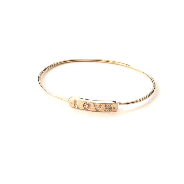 Diamond Love Bar Bangle