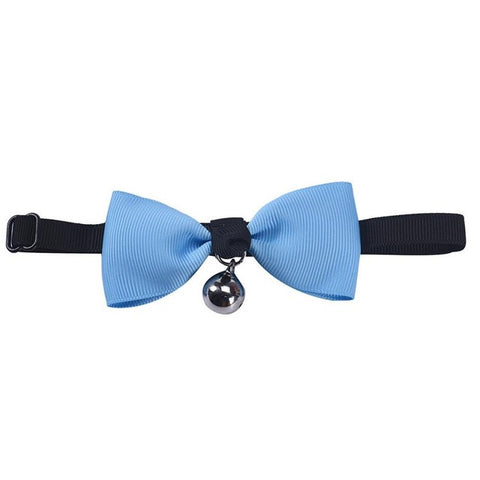 Adjustable Bow-Tie Dog Collar with Bell