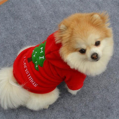 """Merry Christmas"" Red Corduroy Shirt for Dogs"