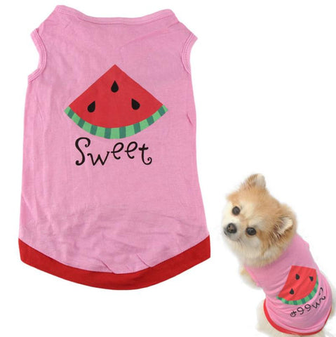 Sweet! Watermelon Printed Shirt for Small Dogs