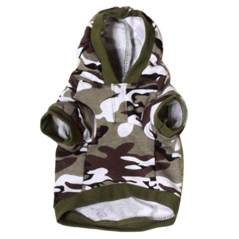 Dog Camouflage Coats & Hoodies
