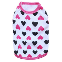 Heart Themed Vest for Small Dogs