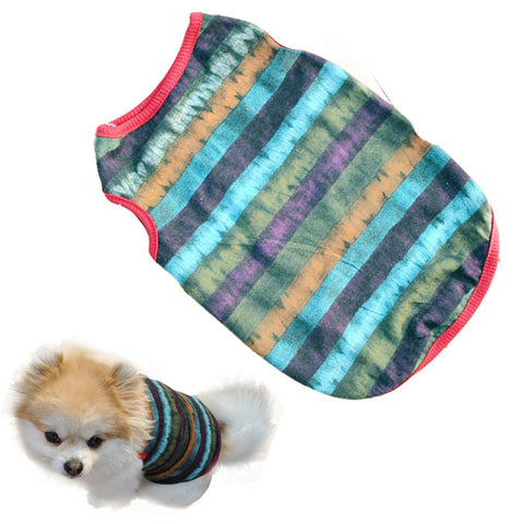 Striped Vest for Small Dogs