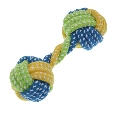 Cotton Rope, Knot and Ball - Dog Teething Toys