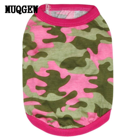 Camouflage & Pink Vest for Small Dogs