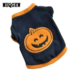 Halloween Pumpkin Dog Clothes for Small Dogs