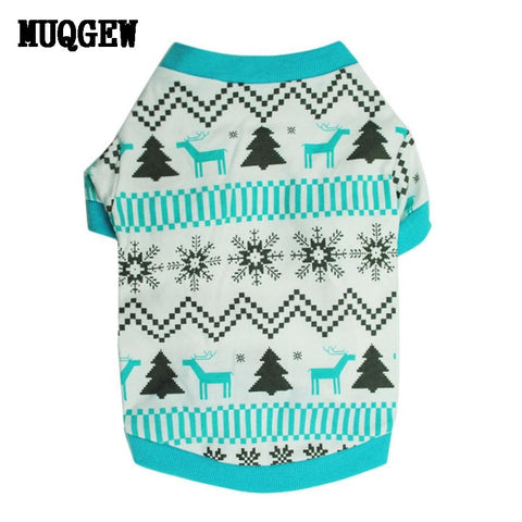 Christmas Snow Print Sweater for Small Dogs