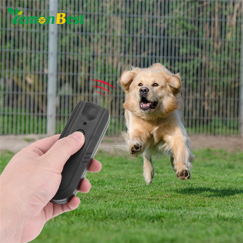 LemonBest Anti-Bark Ultrasonic Aggressive Dog Repeller Barking Stopper Banish Dog Machine Stop Bark Dog Training Device with CE