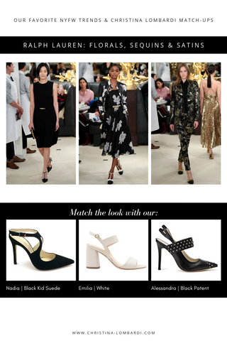 New York Fashion Week looks from Ralph Lauren matched with Christina Lombardi shoe recommendations