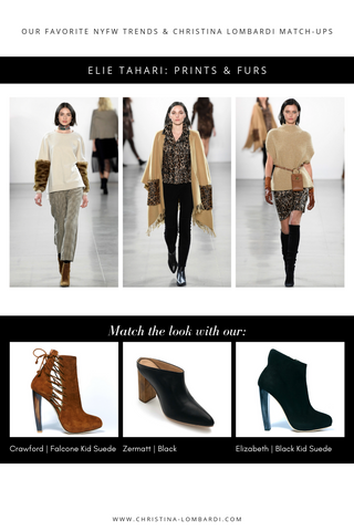 New York Fashion Week looks from Elie Tahari matched with Christina Lombardi shoe recommendations