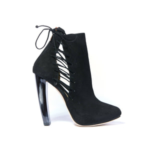 Crawford Crawford Christina Lombardi 36 Black Kid Suede