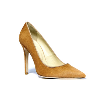 Kersen camel pony hair high heel with pointed toe shape