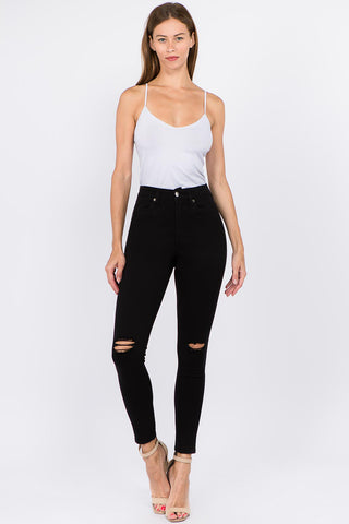 PREMIUM HIGH WAIST DISTRESSED SKINNY PANTS -Wholesale Americanbazi