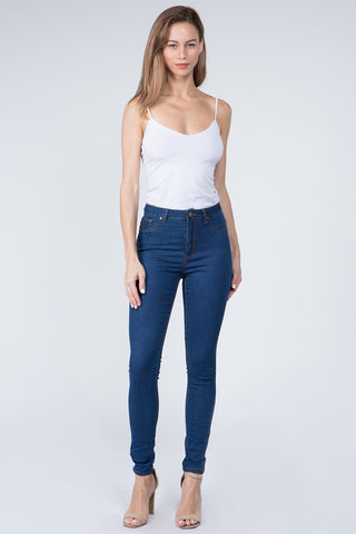BASIC HIGH RISE SUPER SKINNY DENIM JEANS -Wholesale Americanbazi
