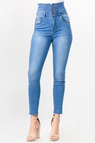 PLUS SIZE SUPER HIGH WAIST SKINNY JEANS