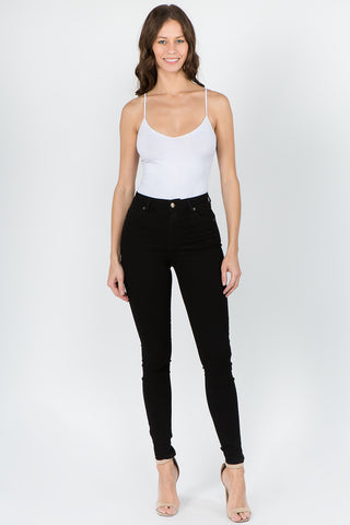 PLUS SIZE PREMIUM BASIC HIGH WAIST SKINNY PANTS