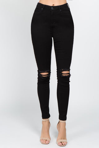 PLUS SIZE HIGH WAIST SKINNY PANTS -Wholesale Americanbazi