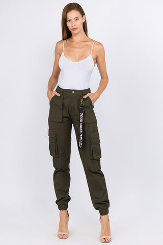 HIGH WAIST JOGGER WITH CARGO POCKETS -Wholesale Americanbazi
